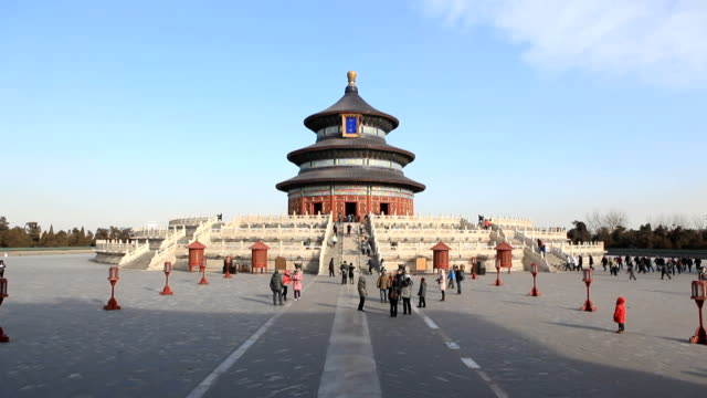 Temple of Heaven in Beijing from down to up video