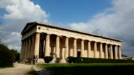 Temple of Hephaestus in Athens, Greece on a sunny day video