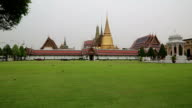 Temple of the Emerald Buddha in Bangkok, Thailand video