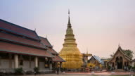Temple Phra That Hariphunchai in Thailand time-lapse. video
