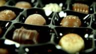 Tempting Box of Chocolates. HD video