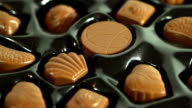 Tempting box of milk Chocolates. HD, NTSC, PAL video