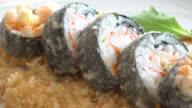 Tempura sushi video
