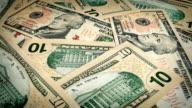 Ten Dollar Bills Rotating video