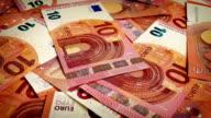 Ten Euro Banknotes Rotating video