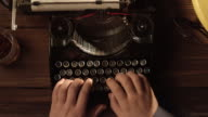 POV ten finger typing on old typewriter video