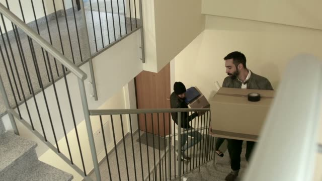 Tenants Friends Young People Students Moving To New Apartment Home video