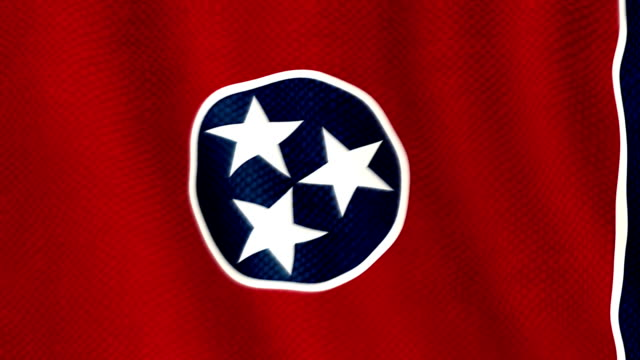 Tennessee flag waving animation video