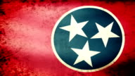 Tennessee State Flag Waving, grunge look video
