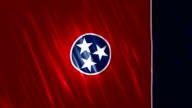 Tennessee State Loopable Flag video