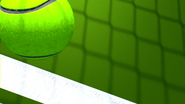 Tennis Ball Falling Down to Court Video Background video