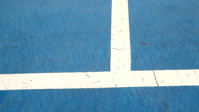tennis ball on blue court video