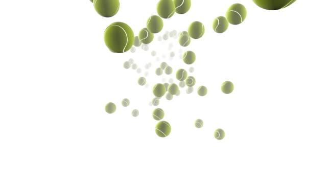 Tennis Balls Bouncing video