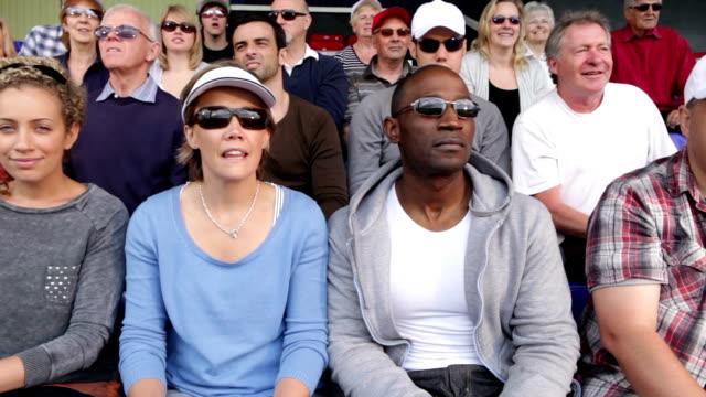 Tennis crowd of sports spectators video
