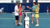 DS LS Tennis Friends Having Fun Talking video
