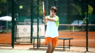 Tennis game. video