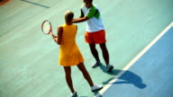 Tennis lesson. video