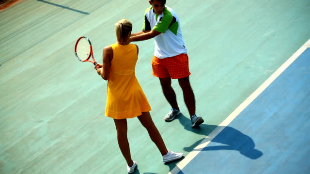 Tennis lesson. video