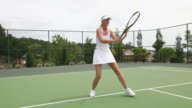 Tennis Player In Action video