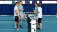 DS LS Tennis Players Talking After A Match video