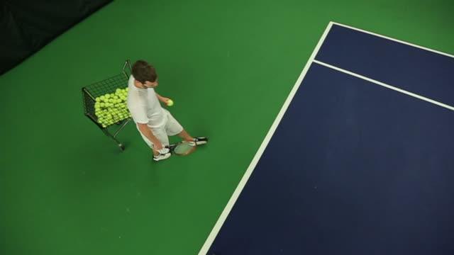 Tennis Serving Slow Motion video