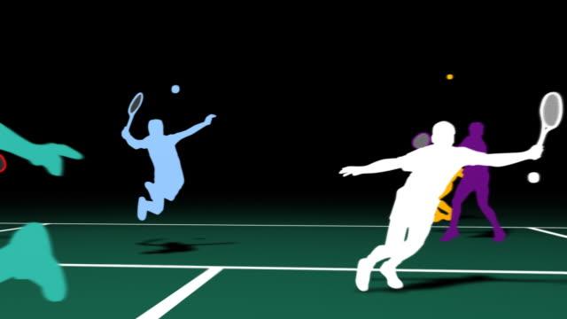 Tennis Sİlhouettes video