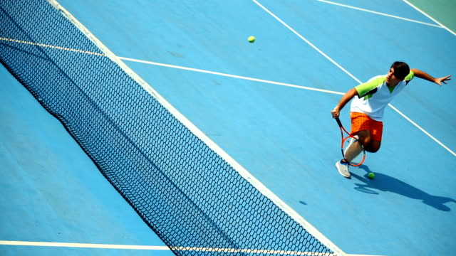 Tennis training. video