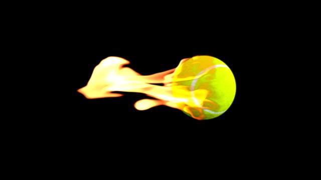 Tennis-Ball on Fire video