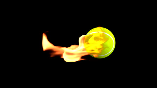 Tennis-Ball on Fire with Alpha video
