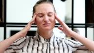 Tense Woman with Headache, Frustration video