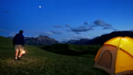 Tenting in the Rocky Mountains video