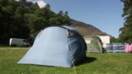 Tents at a camping site video