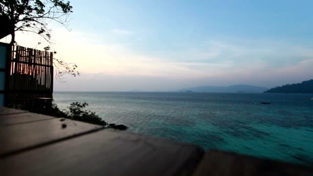 Terrace sea view video