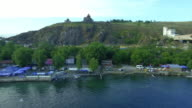 Territory Sevanavank monastery on Sevan lake, Armenia video