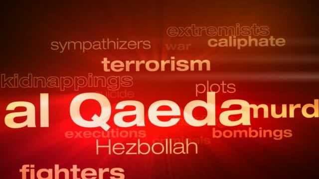 Terrorism Words Loop video