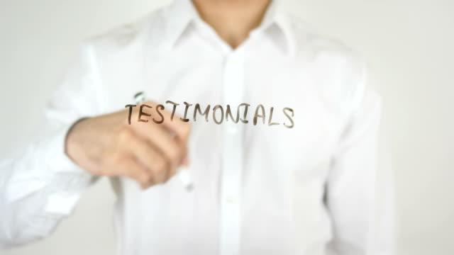 Testimonials, Written on Glass video