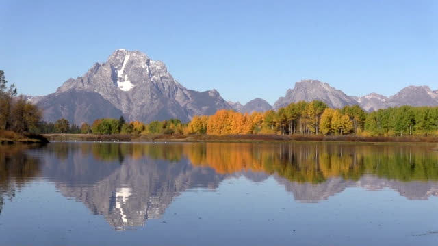 Teton Fall Reflection at Oxbow Bend video