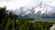 Teton Mountain Range and Snake River video