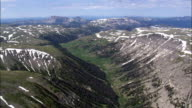 Teton National Forest - Aerial View - Wyoming,  Fremont County,  helicopter filming,  aerial video,  cineflex,  establishing shot,  United States video
