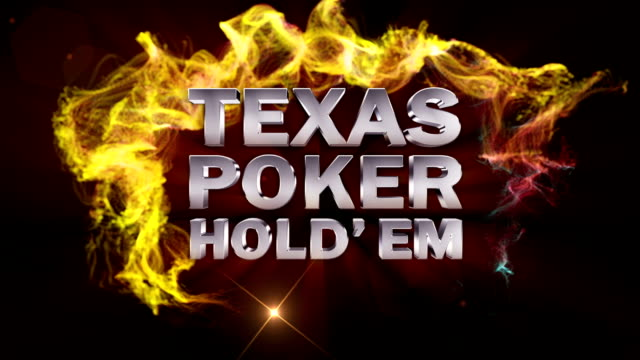 Texas Holdem Poker Text in Particles video