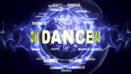 DANCE Text Animation and Disco Ball, Loop video