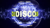 DISCO Text Animation and Disco Ball, Loop video