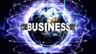BUSINESS Text Animation and Earth, with Keywords, Zoom Camera video