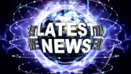 LATEST NEWS Text Animation and Earth, Zoom Camera video