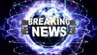 BREAKING NEWS Text Animation and Earth, Zoom Camera video