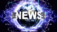 NEWS Text Animation and Earth, Zoom Camera video