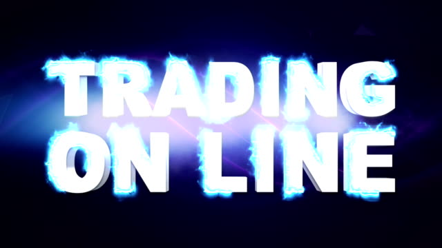 TRADING ON LINE Text Animation and Keywords with Final Green Screen, Rendering, Loop video