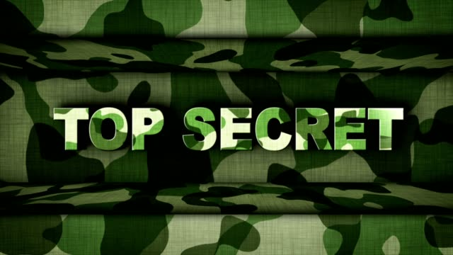 TOP SECRET Text Animation and Military Doors, Background, Rendering, Loop video
