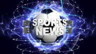 SPORTS NEWS Text Animation, and Sport Balls, Loop video