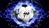 SPORTS NEWS Text Animation and Sport Balls, Loop video